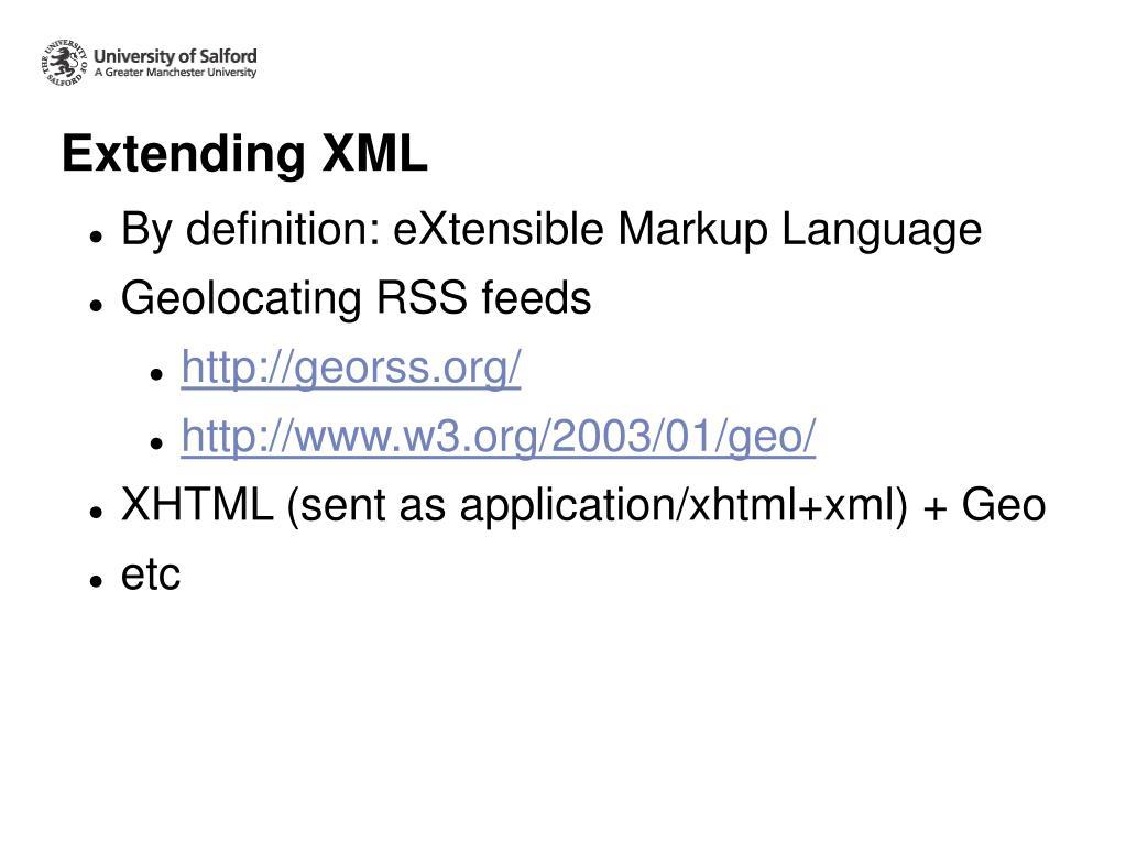 Extending XML