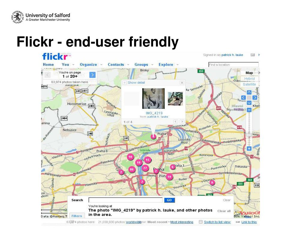 Flickr - end-user friendly