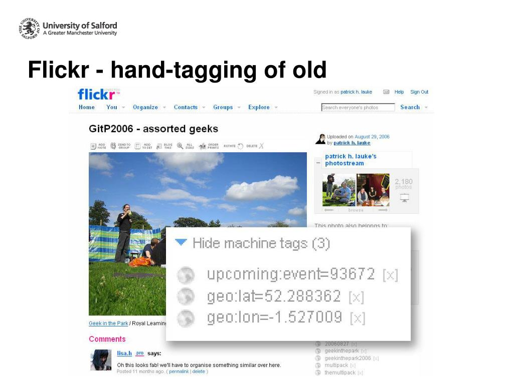 Flickr - hand-tagging of old