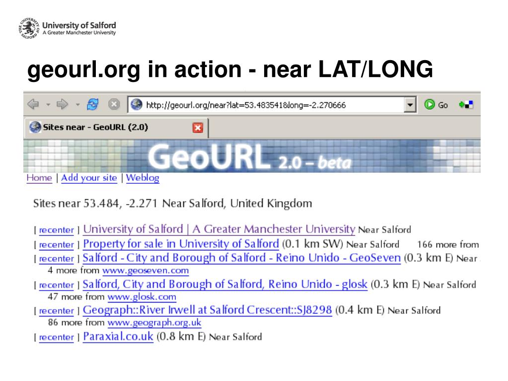 geourl.org in action - near LAT/LONG