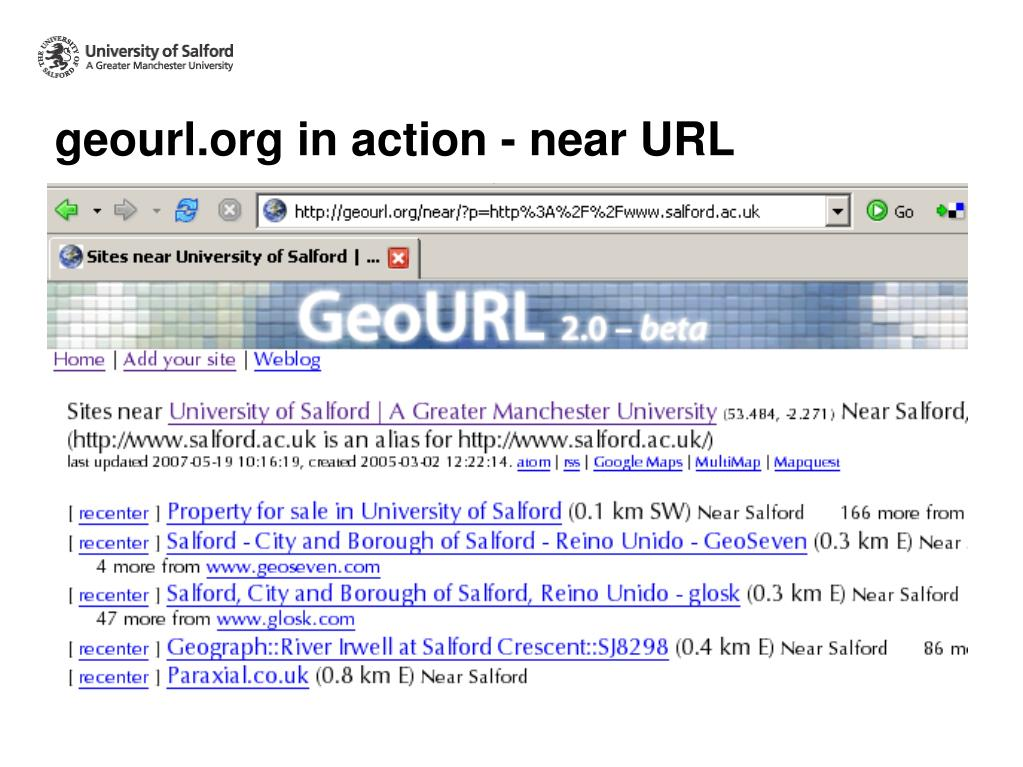 geourl.org in action - near URL