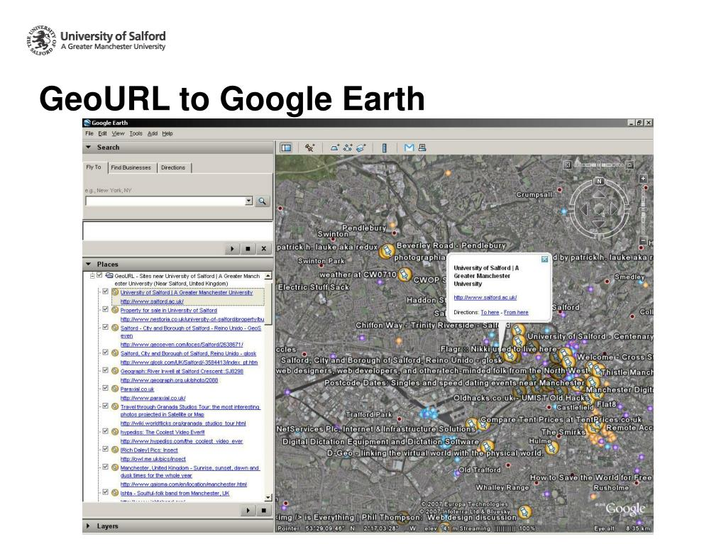 GeoURL to Google Earth
