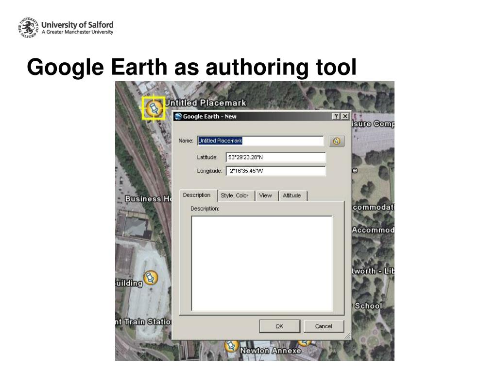 Google Earth as authoring tool