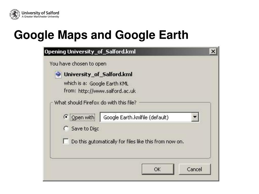 Google Maps and Google Earth