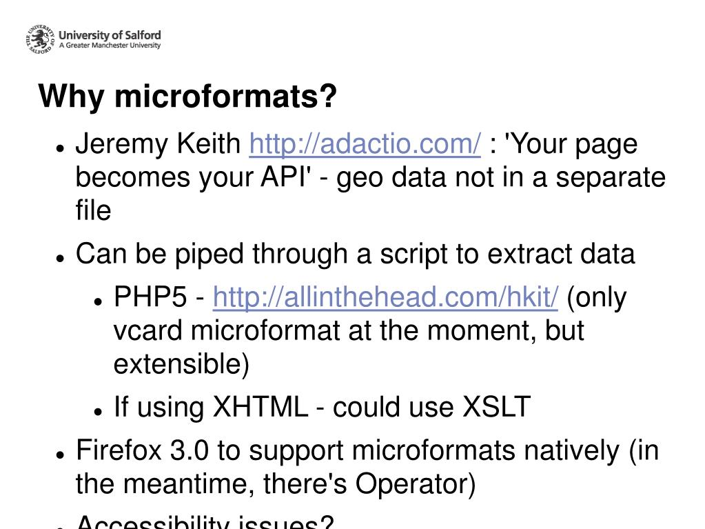 Why microformats?