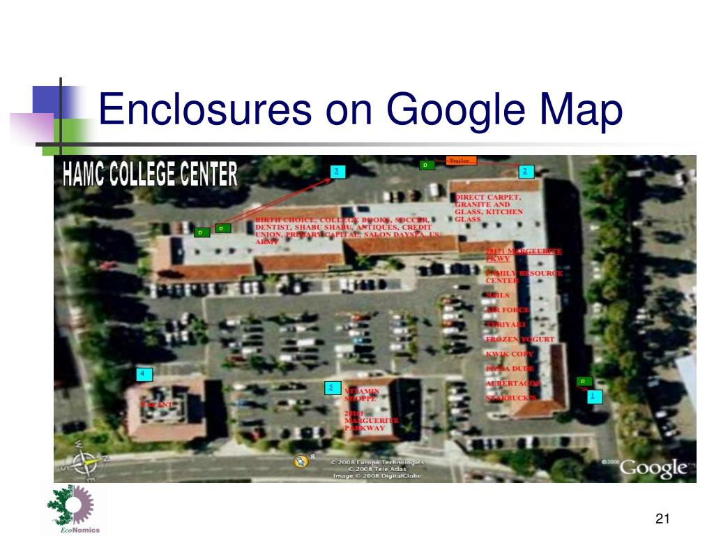 Enclosures on Google Map