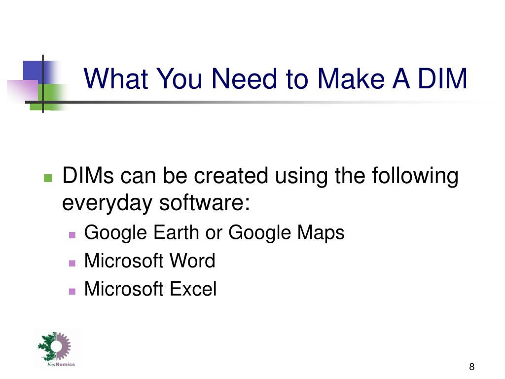 What You Need to Make A DIM