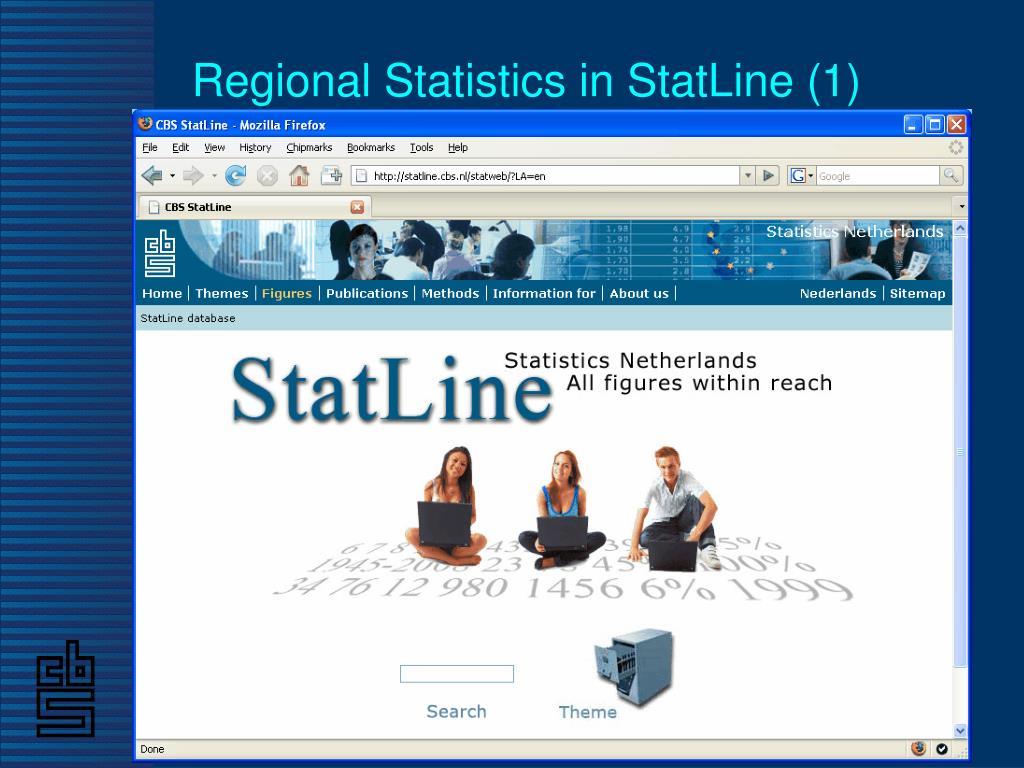 Regional Statistics in StatLine (1)