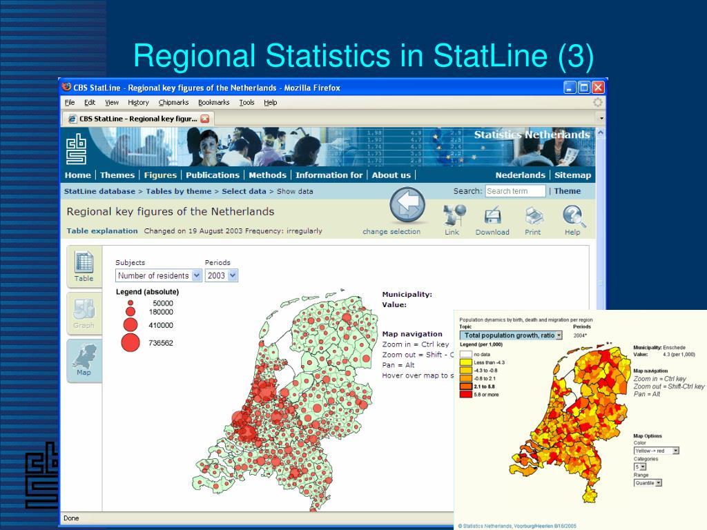 Regional Statistics in StatLine (3)