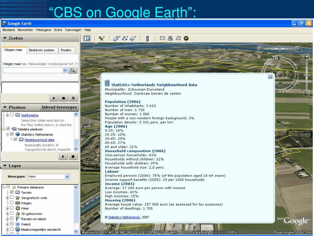 """CBS on Google Earth"":"