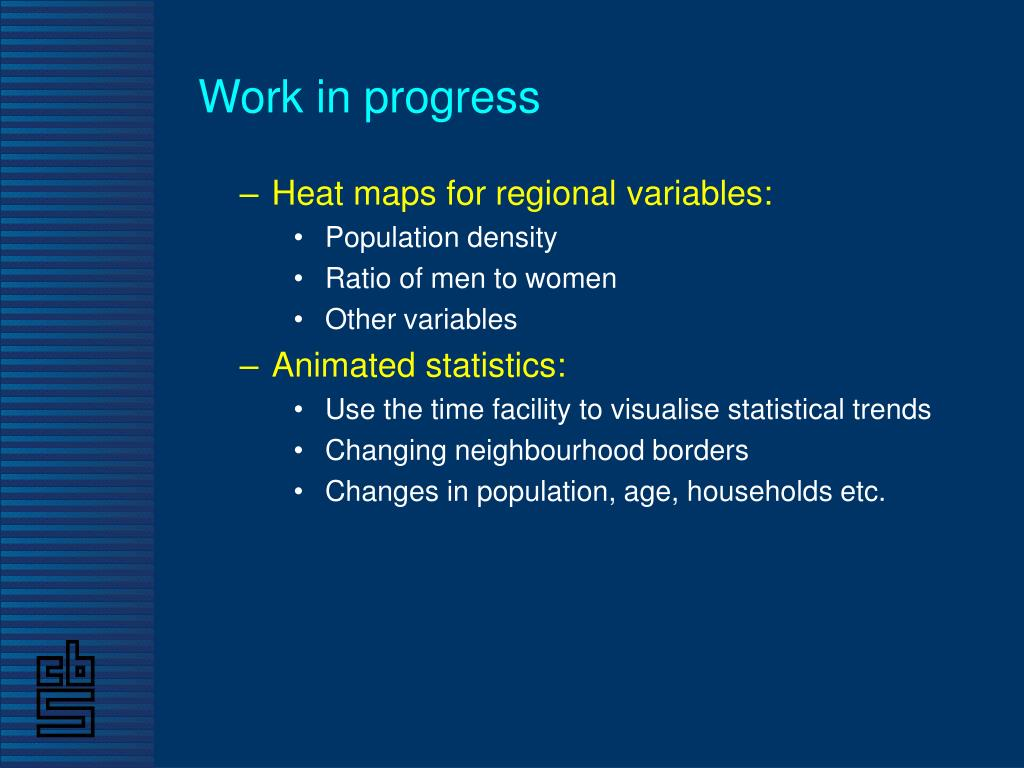 Heat maps for regional variables: