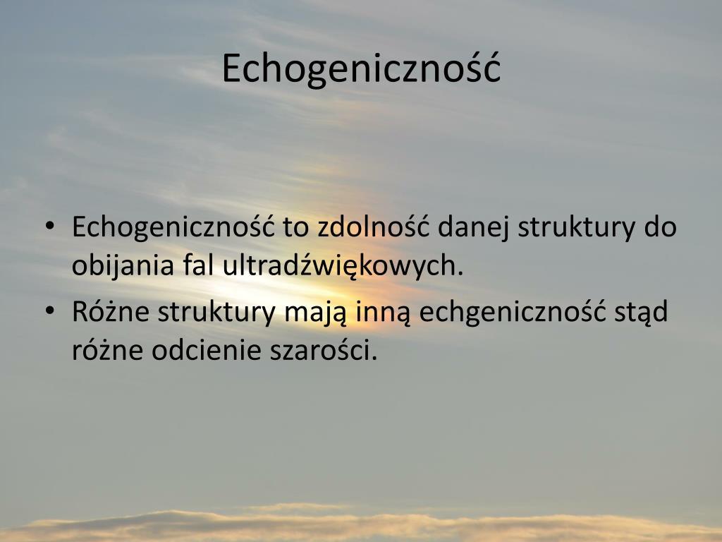 Echogeniczność