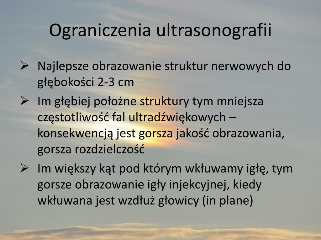 Ograniczenia ultrasonografii