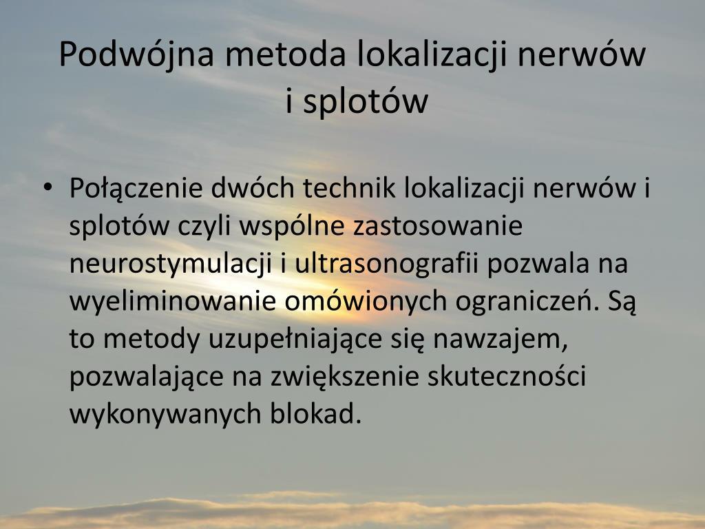 Podwójna metoda lokalizacji nerwów