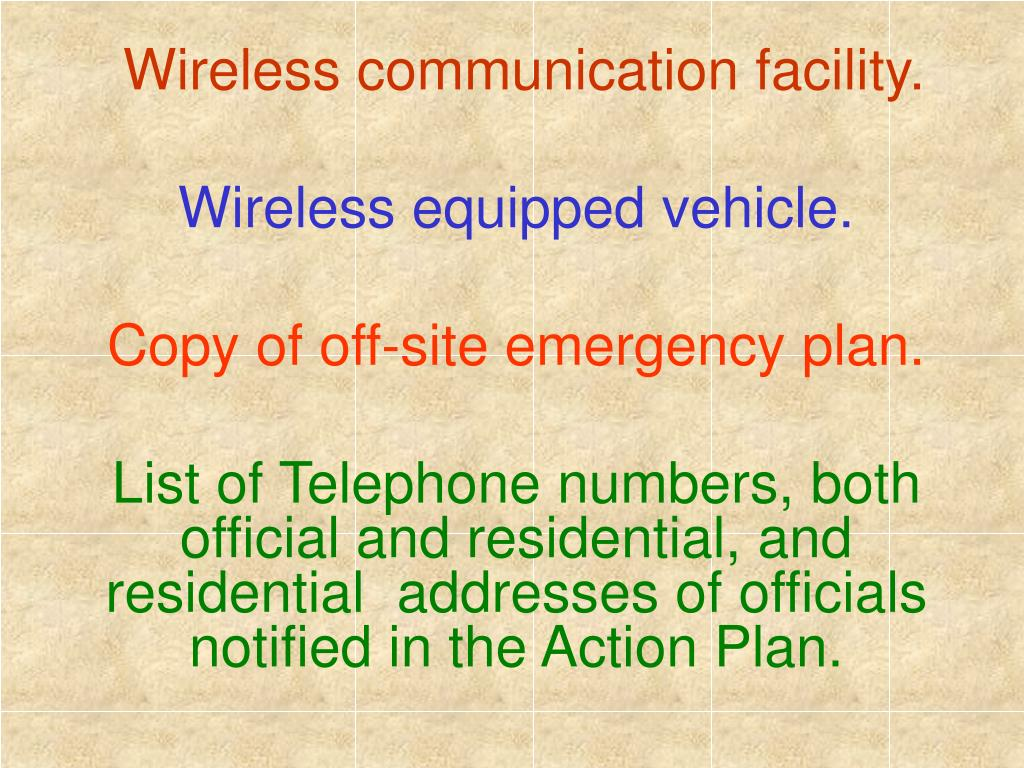 Wireless communication facility.