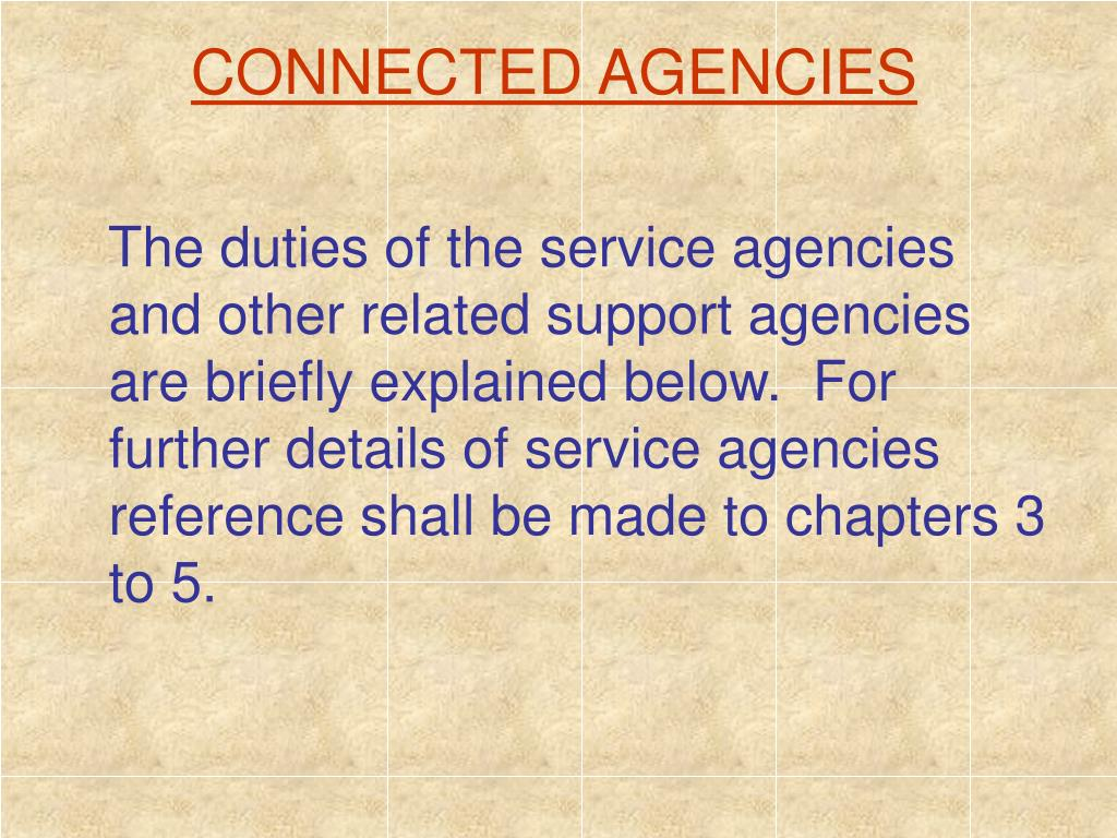 CONNECTED AGENCIES