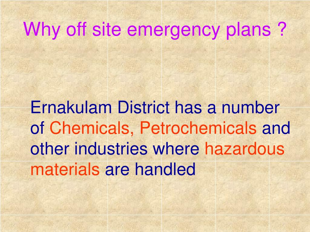 Why off site emergency plans ?