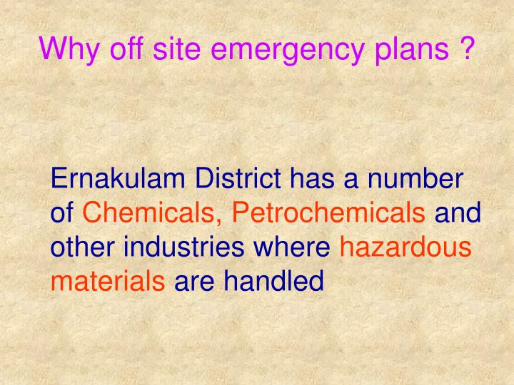 Why off site emergency plans
