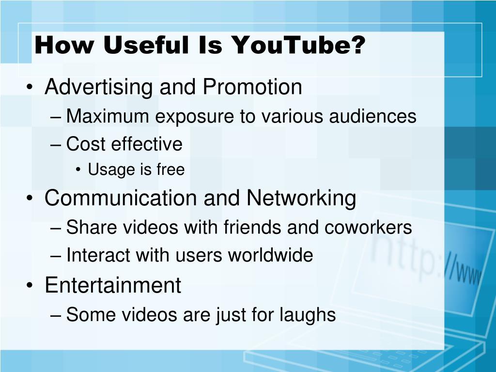 How Useful Is YouTube?