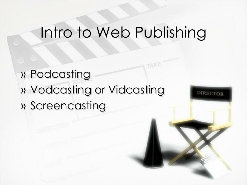 Intro to Web Publishing