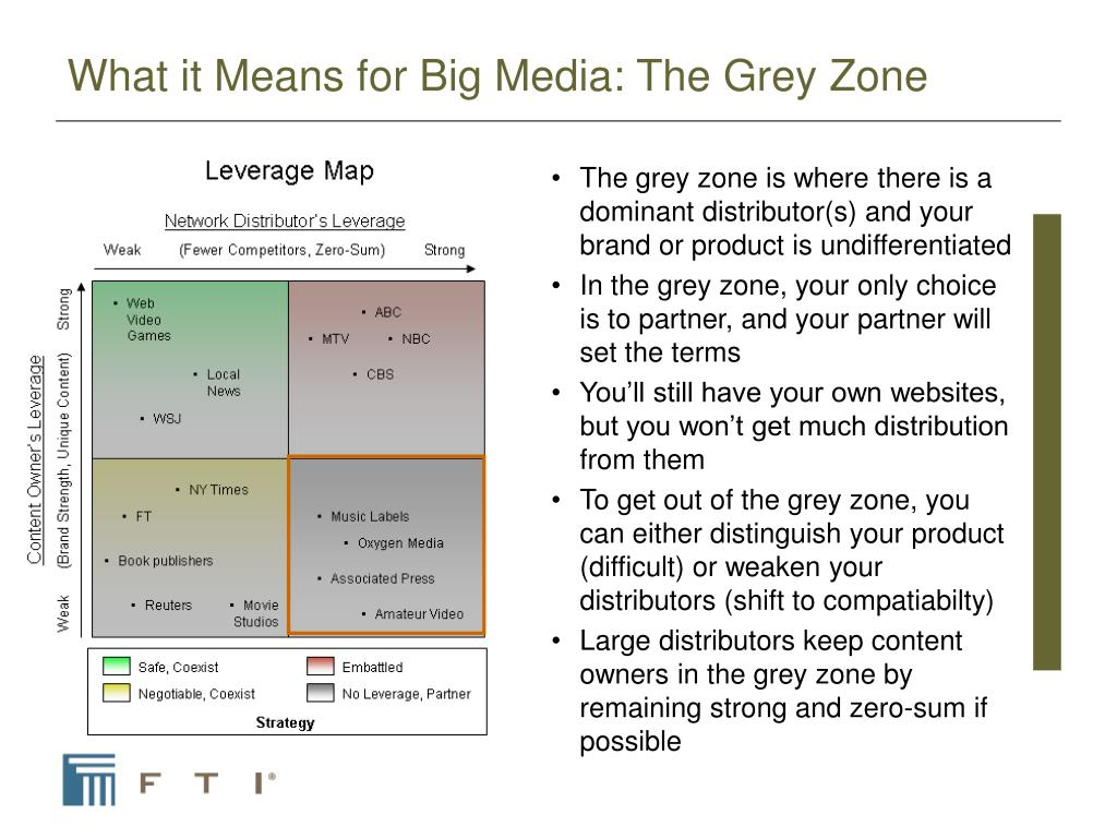 What it Means for Big Media: The Grey Zone
