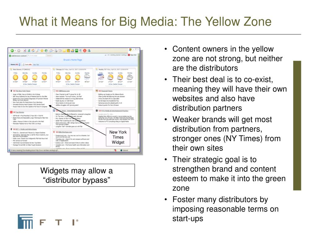 What it Means for Big Media: The Yellow Zone
