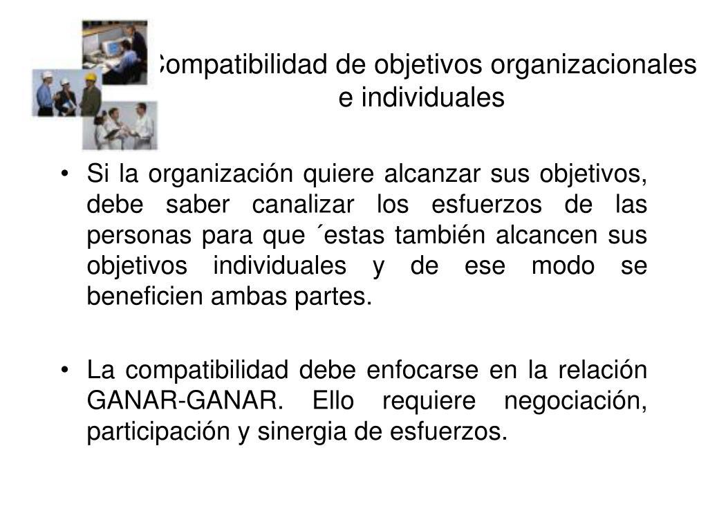 Compatibilidad de objetivos organizacionales e individuales