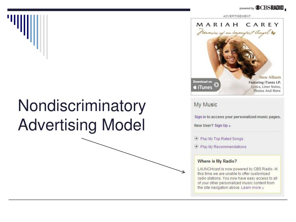 Nondiscriminatory Advertising Model