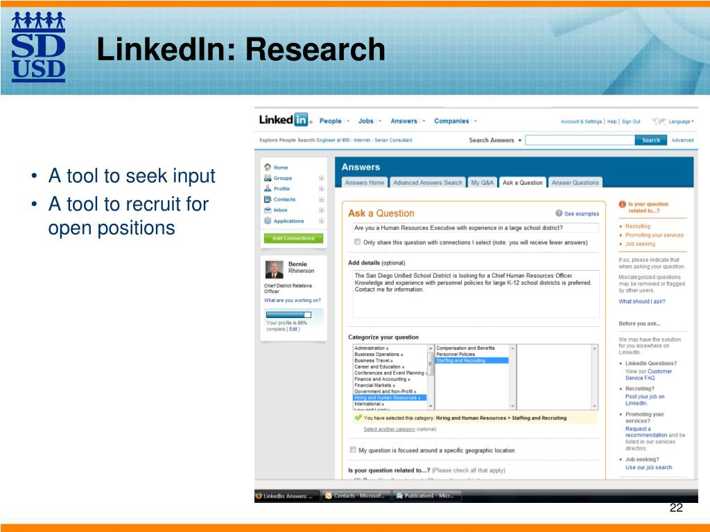 LinkedIn: Research
