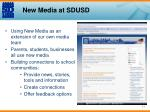 new media at sdusd