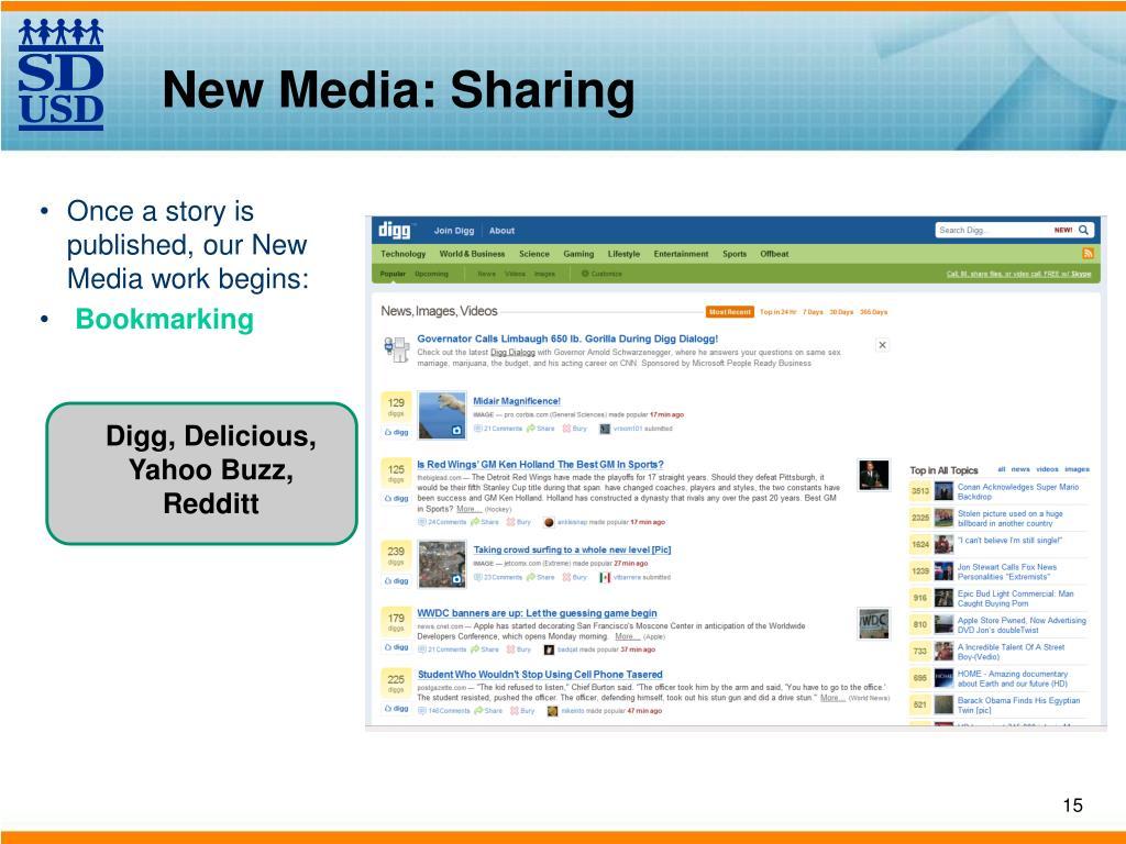 New Media: Sharing