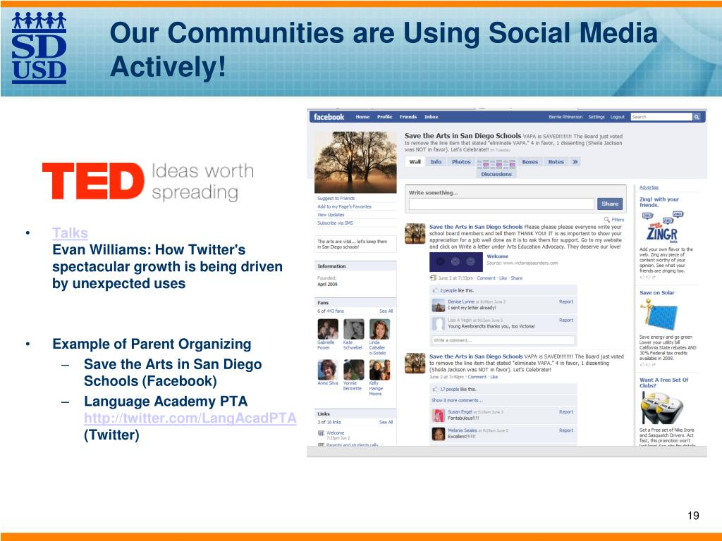 Our Communities are Using Social Media Actively!