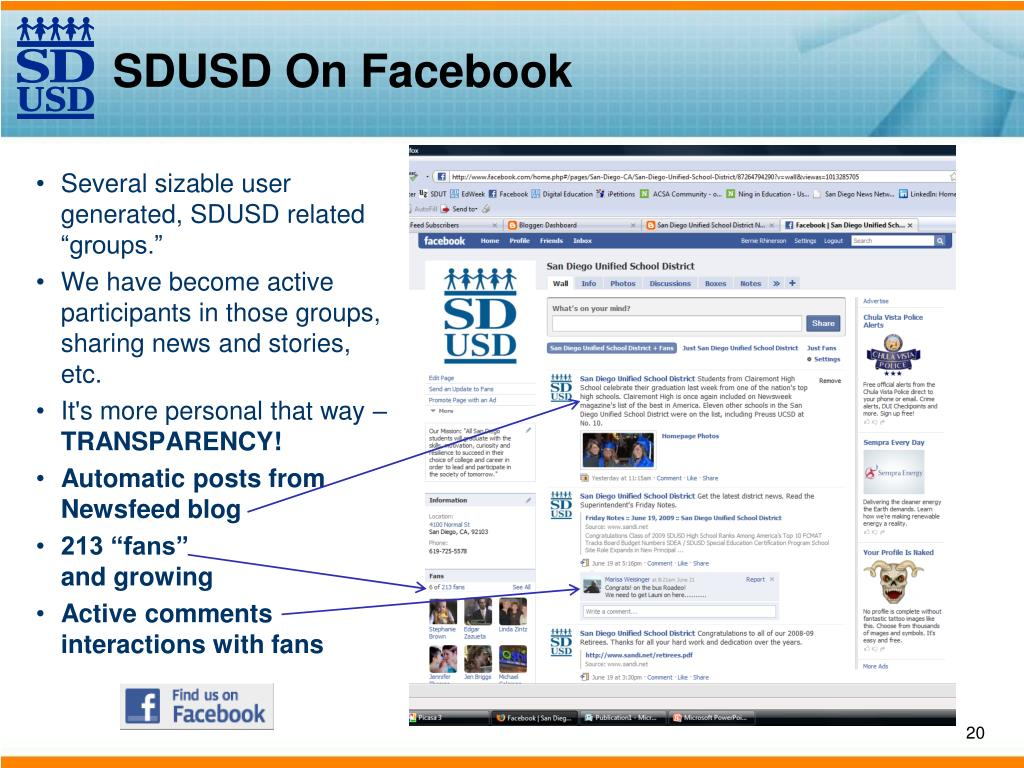 SDUSD On Facebook