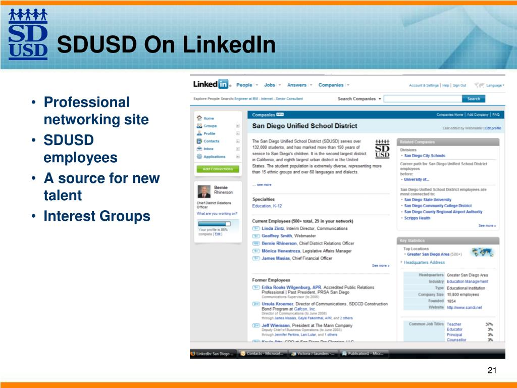SDUSD On LinkedIn
