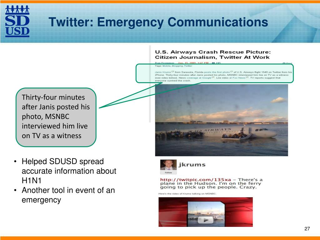 Twitter: Emergency Communications