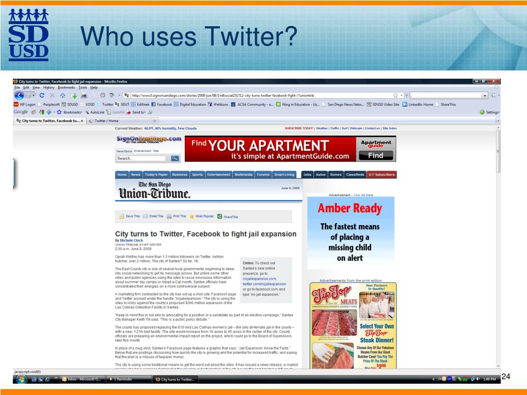 Who uses Twitter?