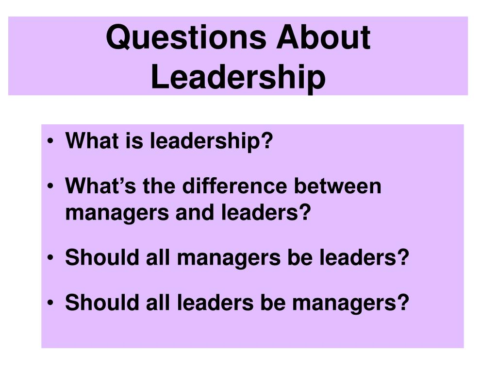 Questions About Leadership