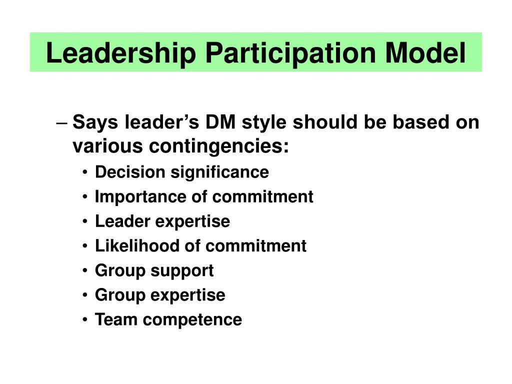 Leadership Participation Model