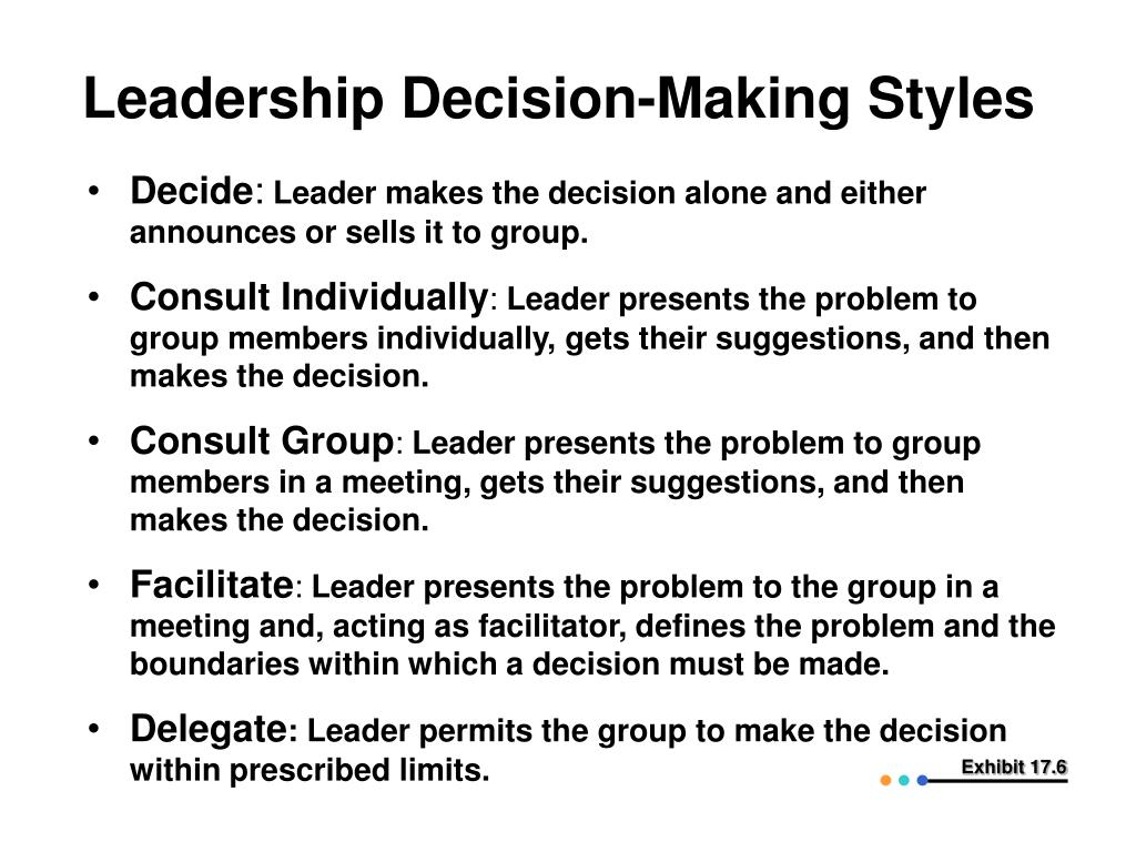 Leadership Decision-Making Styles