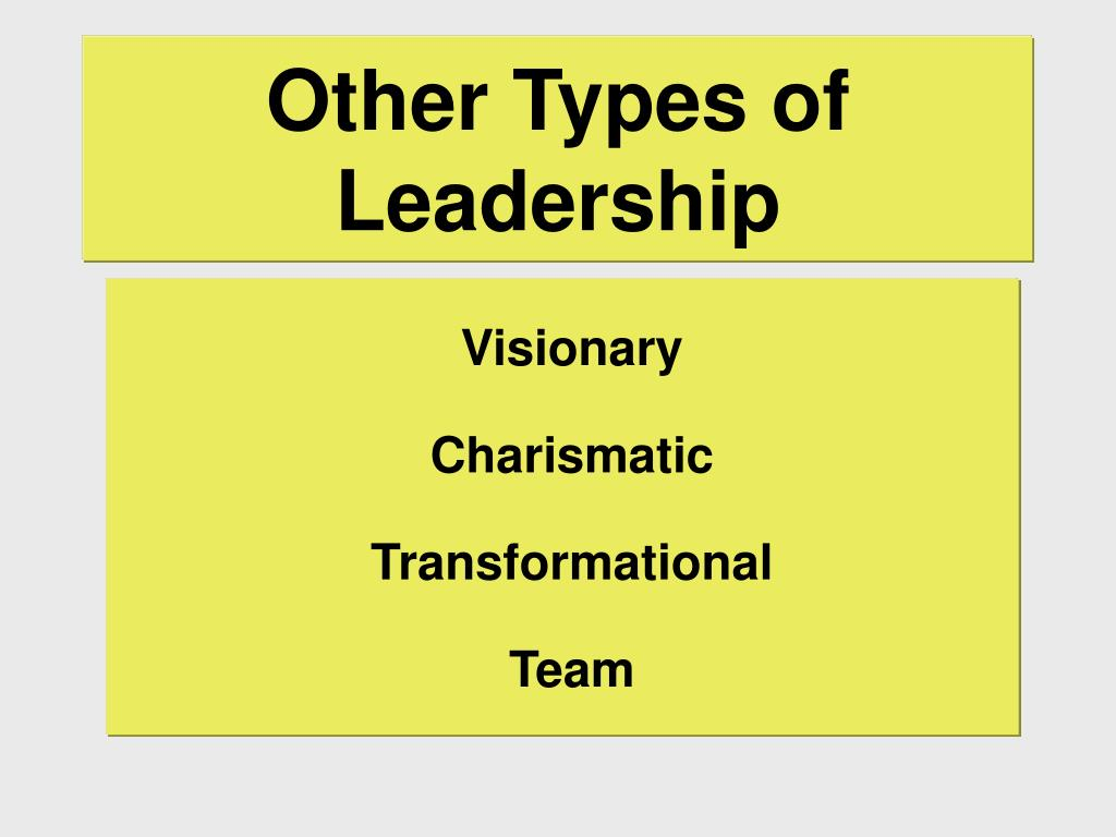 Other Types of Leadership