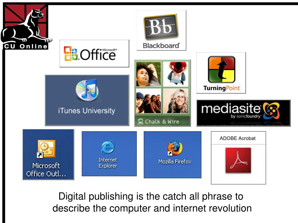 Digital publishing is the catch all phrase to
