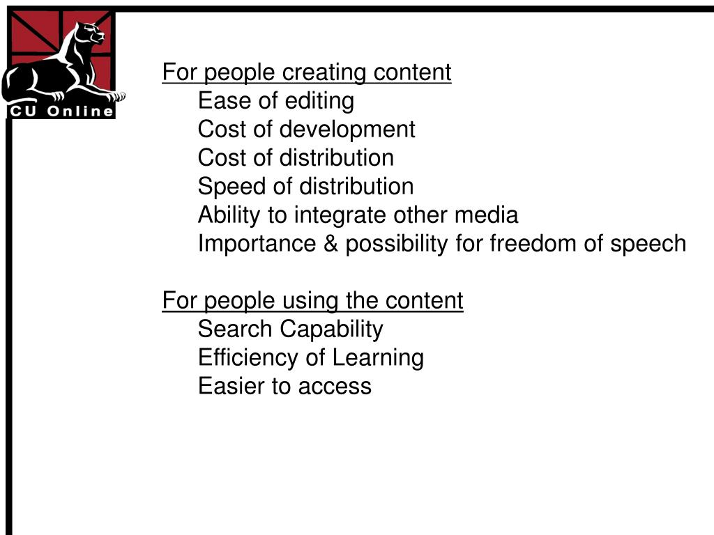 For people creating content