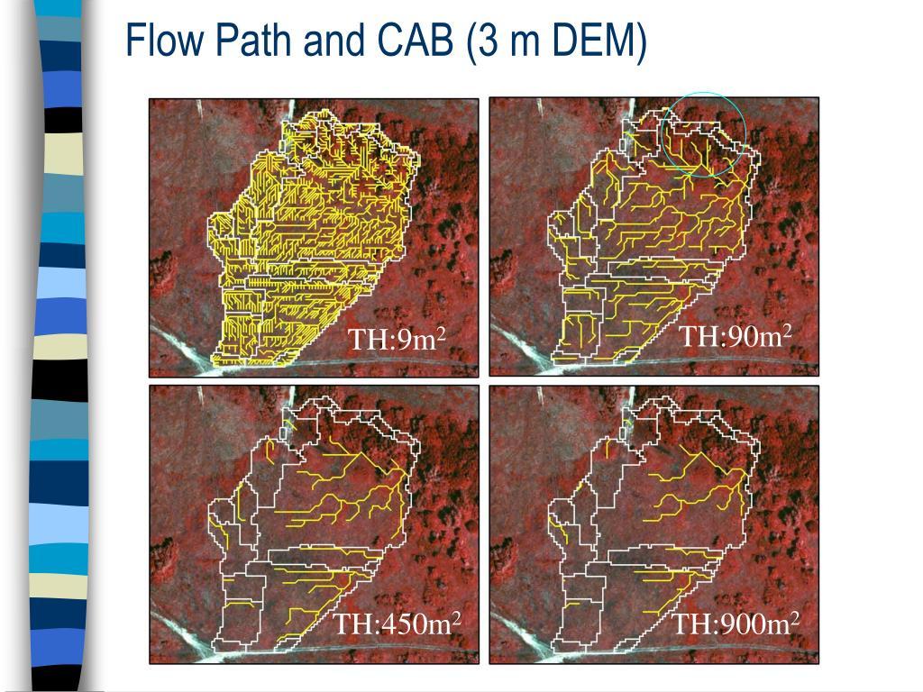 Flow Path and CAB (3 m DEM)