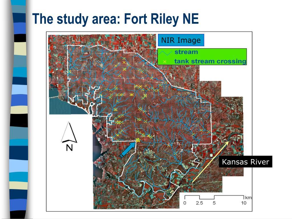 The study area: Fort Riley NE