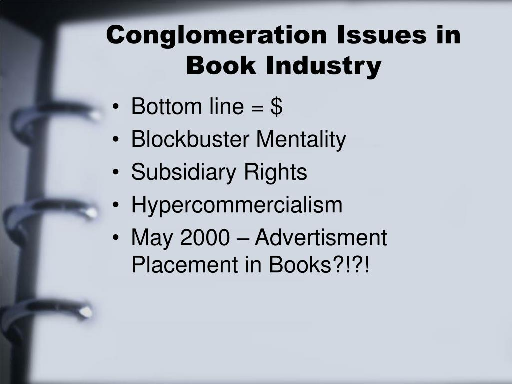 Conglomeration Issues in Book Industry