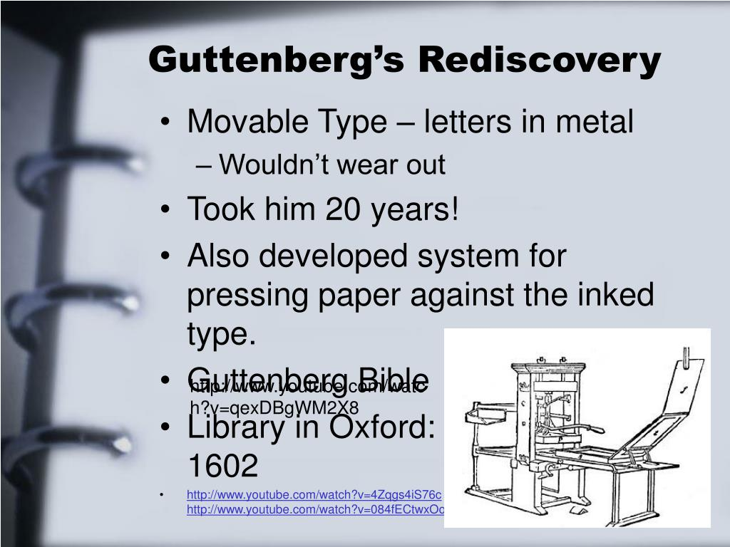 Guttenberg's Rediscovery