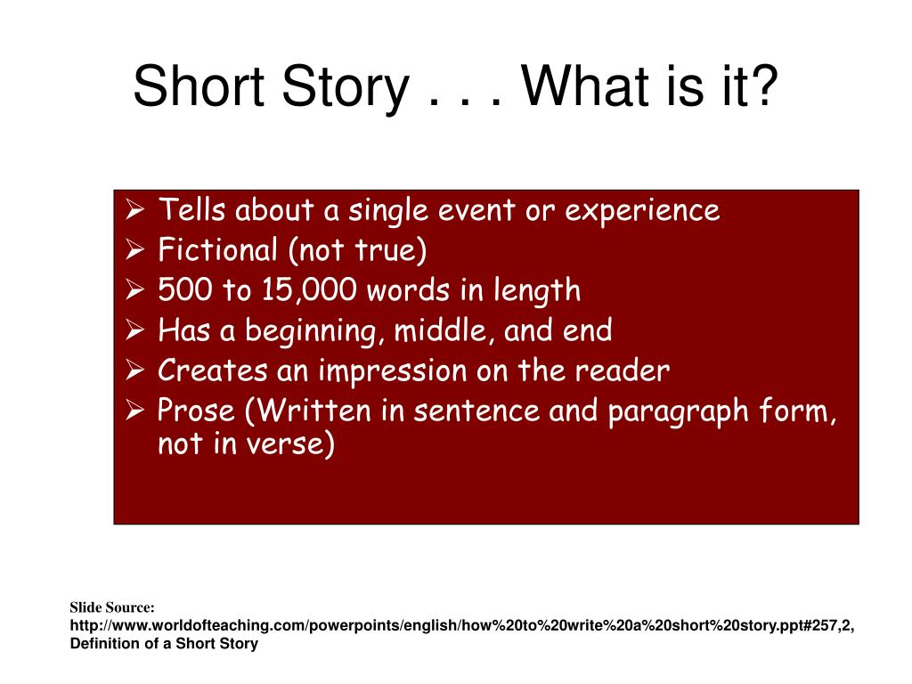 Short Story . . . What is it?