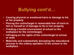 bullying cont d