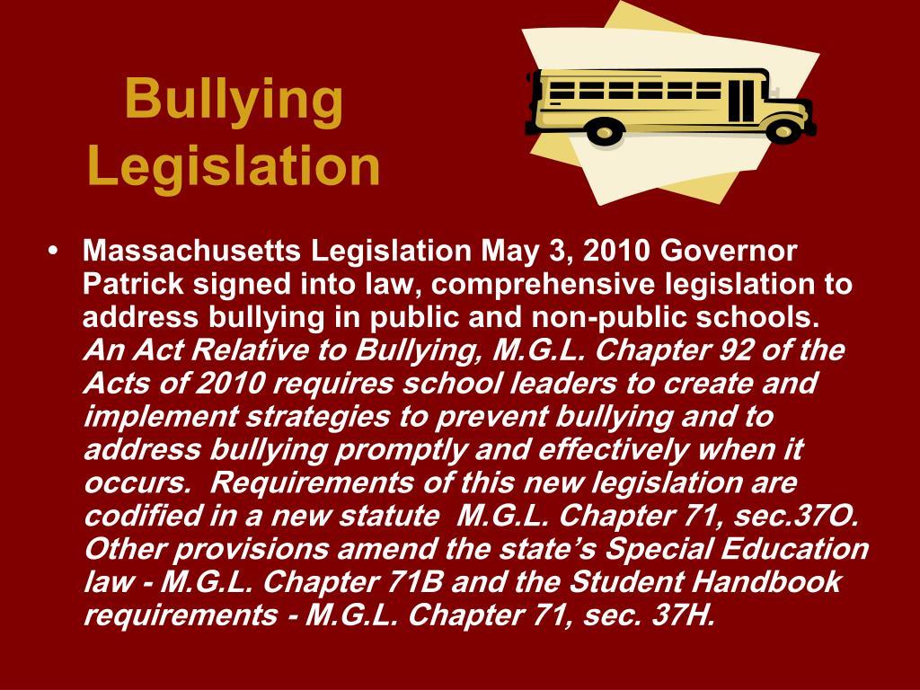 Bullying Legislation
