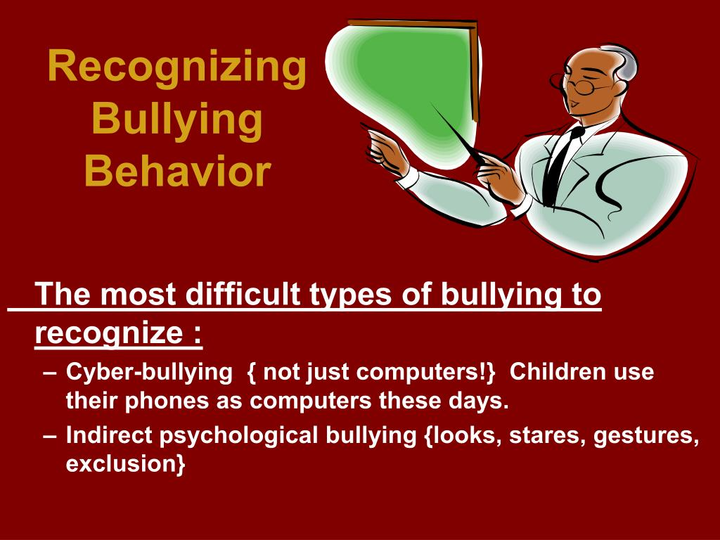 Recognizing Bullying Behavior